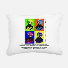 rambamwarhol2.png Rectangular Canvas Pillow
