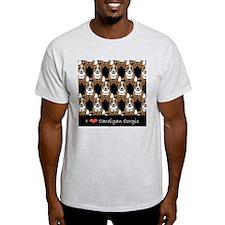 I Love Cardigan Corgis Ash Grey T-Shirt