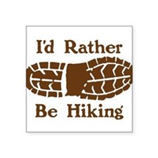 """Hiking"" Rectangle Sticker"