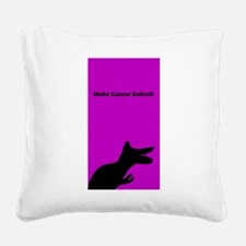 Make Cancer Extinct Dinosaur Designer Purple Squar