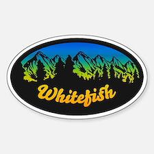 Whitefish Mountain Sticker (Oval)