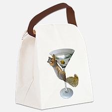 Martini Squirrel Canvas Lunch Bag