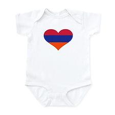 Armenia flag heart Infant Bodysuit