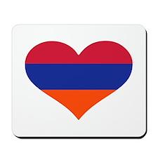 Armenia flag heart Mousepad