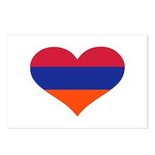Armenia flag heart Postcards (Package of 8)