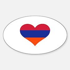 Armenia flag heart Decal