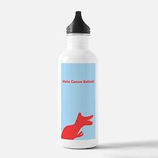 Make Cancer Extinct Dinosaur Blue T-rex Water Bottle