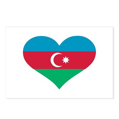 Azerbaijan flag heart Postcards (Package of 8)