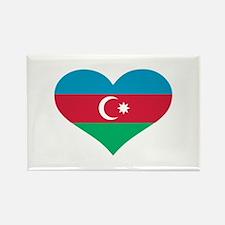 Azerbaijan flag heart Rectangle Magnet