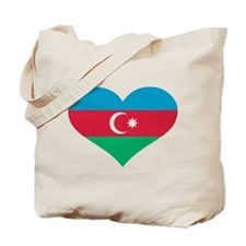 Azerbaijan flag heart Tote Bag