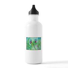 Lorikeets! Colorful bird art! Water Bottle
