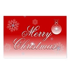 Red White Christmas Postcards (Package of 8)
