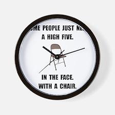 High Five Chair Wall Clock