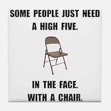 High Five Chair Tile Coaster