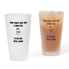 High Five Chair Drinking Glass