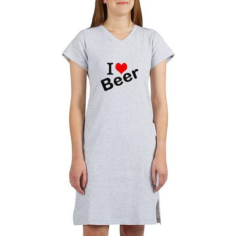 I Love Beer Women's Nightshirt