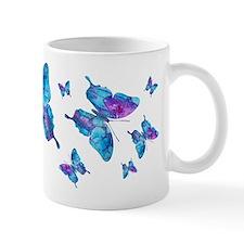 Electric Blue Butterfly Dance Mug
