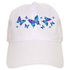 Electric Blue Butterfly Dance Baseball Cap