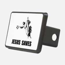 Jesus Saves Soccer Hitch Cover