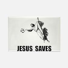 Jesus Saves Soccer Rectangle Magnet (10 pack)