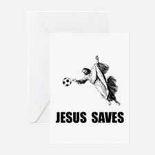 Jesus Saves Soccer Greeting Cards (Pk of 20)