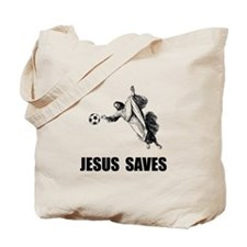 Jesus Saves Soccer Tote Bag