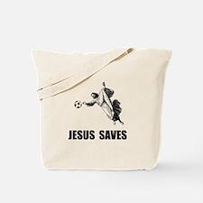 Jesus Saves Soccer Tote Bag
