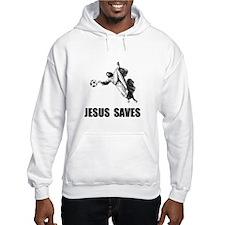 Jesus Saves Soccer Hoodie