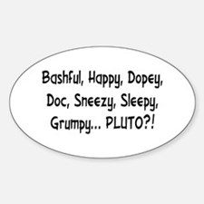 Pluto the Eighth Dwarf Oval Decal