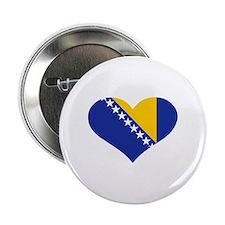 "Bosnia and Herzegovina flag heart 2.25"" Button"