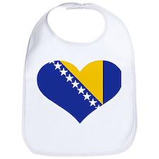 Bosnia and Herzegovina flag heart Bib
