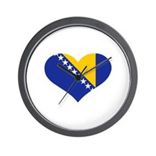 Bosnia and Herzegovina flag heart Wall Clock