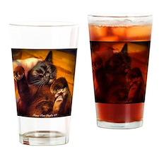 Burmese Ecstacy Drinking Glass