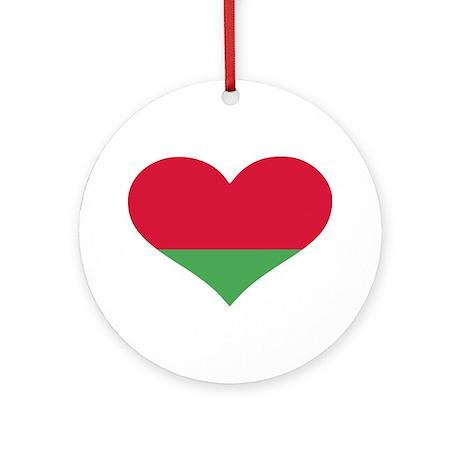 Belarus flag heart Ornament (Round)