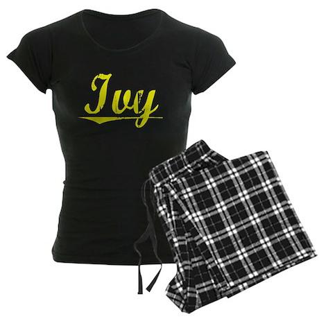 Ivy, Yellow Women's Dark Pajamas