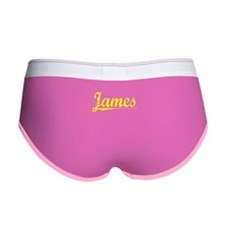 James, Yellow Women's Boy Brief
