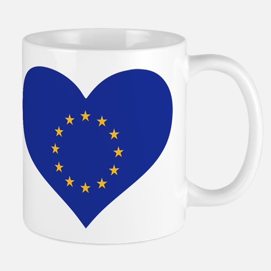 Europe EU flag heart Mug