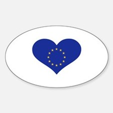 Europe EU flag heart Decal
