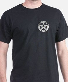 Gray Bounty Hunter Logo on Black T-Shirt
