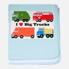 I Heart Big Trucks baby blanket