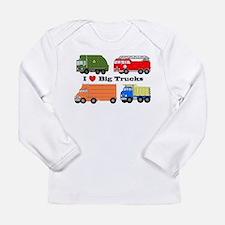 I Heart Big Trucks Long Sleeve Infant T-Shirt