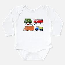 I Heart Big Trucks Onesie Romper Suit