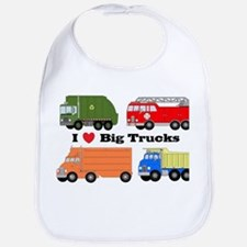 I Heart Big Trucks Bib