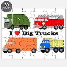 I Heart Big Trucks Puzzle