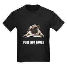 Pugs Not Drugs Black T