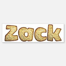 Zack Toasted Bumper Bumper Bumper Sticker