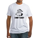 Santa Dont Exist Fitted T-Shirt