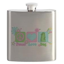 Peace Love Dog Flask