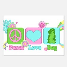 Peace Love Dog Postcards (Package of 8)