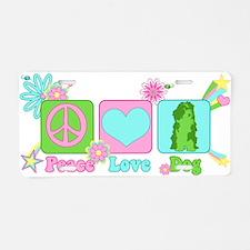 Peace Love Dog Aluminum License Plate